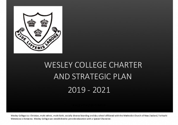 Wesley Charter And Strategic Plan 2019   2021