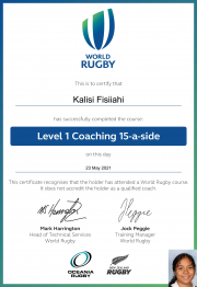 Growing Wahine in Rugby - Foundation Level 1 Coaching Course